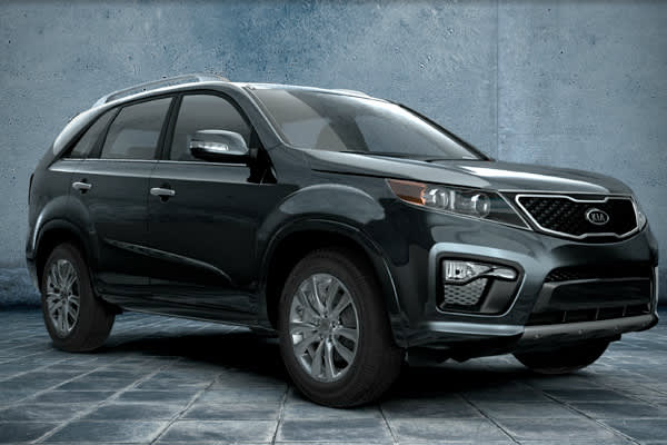 2011 Kia Sorento 2WS 4 dr I4 LX Combined 25 MPG, MSRP: $22,595 According to NADAguides, consumers who are looking to downsize from a fill-size SUV, but still take advantage of the space a large vehicle offers, the crossover gets the job done. The Sorento offers a 2.4-liter four-cylinder with 175 hp delivering up to 21/29 mpg city/hwy with FWD and 21/27 mpg city/hwy and can seat up to 7 passengers. NOTE PICTURE IS 2012 MODEL*Runners Up: 2011 Nissan Rogur FWD 4 dr S 25 MPG combined, $22,595 MSRP 2