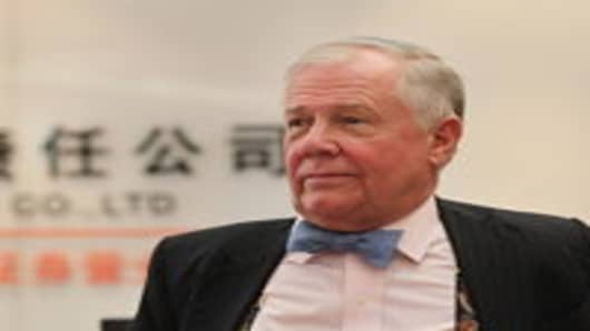Jim Rogers during a visit to Wenzhou, Zhejiang Province of China. Rogers says he's long Chinese stocks and the currency even though he thinks the property sector may be in a bubble.