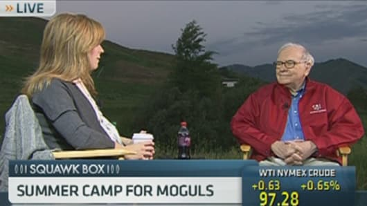 CNBC's Becky Quick with Warren Buffett