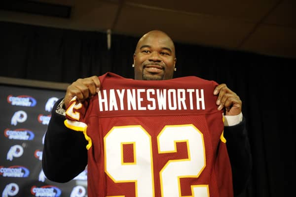 "On July 28, 2011, , and parted ways with a player who cost them a lot of money. His performance with the Tennessee Titans had caused the  to describe him as ""the most dominant defensive tackle in the league,"" and owner Daniel Snyder acquired him on his first day of free agency with a $100 million, seven-year contract.Haynesworth was repeatedly penalized for disciplinary reasons, and he openly criticized his team's defensive coordinator in the press, a big no-no for any athlete. In 2010, he faile"