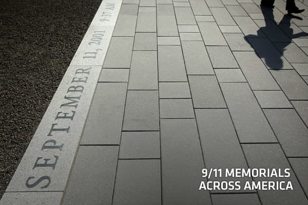 During the decade-long period of healing, people in towns across America have been erecting memorials to the nearly 3,000 victims of the 9/11 terror attacks. There are some 500 recorded memorials in the U.S. and more are underway or planned. Most of them are in New York, New Jersey, Massachusetts and Connecticut, home to the majority of the victims. Others are hundreds of miles away, such as one in North Dakota. The memorials vary widely in size, design and cost. Some are public, others private.