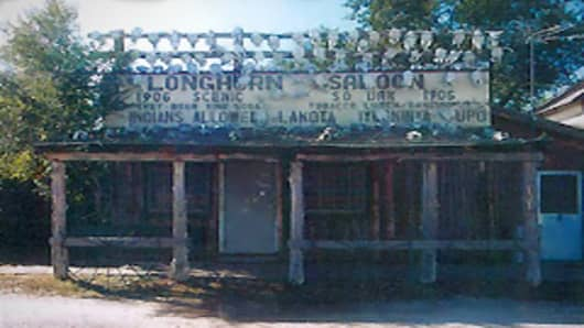 Longhorn Saloon in Scenic, South Dakota