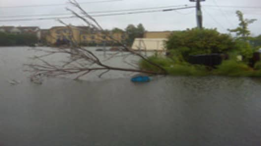 Flooding in Edgewater, NJ
