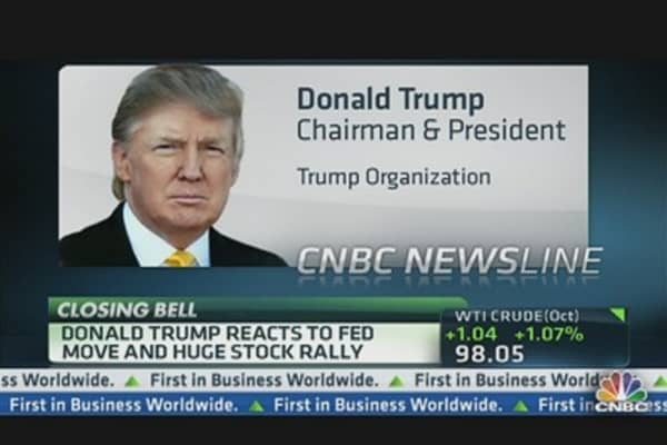 Donald Trump: Bernanke Move Creating False Numbers in Market