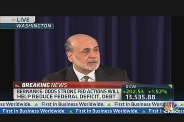 Bernanke: Fed Cannot Solve Economic Problems By Itself