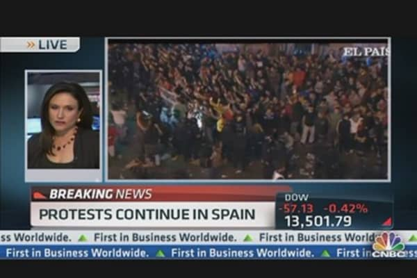 Spain Protesters Turn Violent