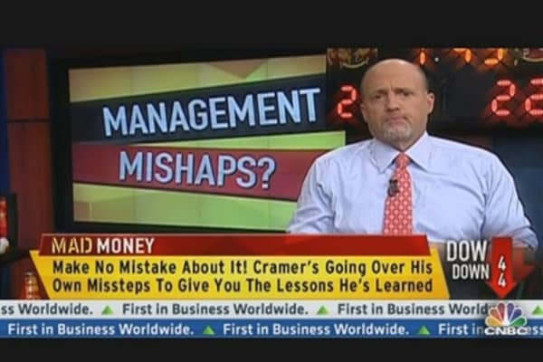 Cramer's Reevaluating His Management Picks