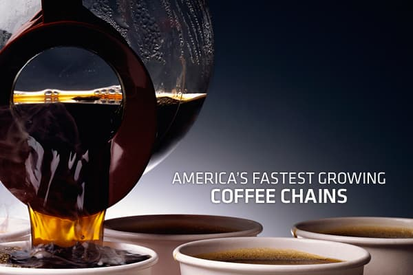 Americans crave their daily fix of coffee, drinking an estimated 400 million cups a day, so it's no wonder that coffee retailers have grown signficantly over the last several years, even in the face of tough economic times. Here, we take a look at the coffee retail chains that had the fastest year-over-year pace of growth in 2010, according to figures from market research group Technomic. Click ahead to see the fastest growing coffee chains in America.