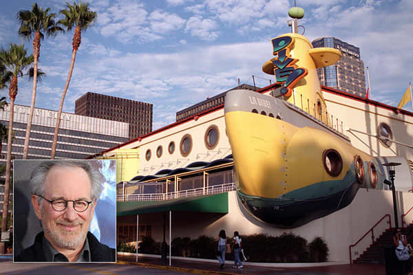 "Business: Dive! Restaurant The brainchild of director Steven Spielberg and Dreamworks CEO Jeffrey Katzenberg, Dive! was a submarine-themed restaurant in the shape of a neon-yellow submersible. The restaurant's visitors were surrounded by metal catwalks, pressure gauges, and torpedo-shaped seats. Every half-hour, the restaurant would simulate a ""dive!"" and red lights would flash around the room. Dive! opened in 1994 in Los Angeles, and in 1995 a second restaurant opened in Las Vegas. The menu foc"