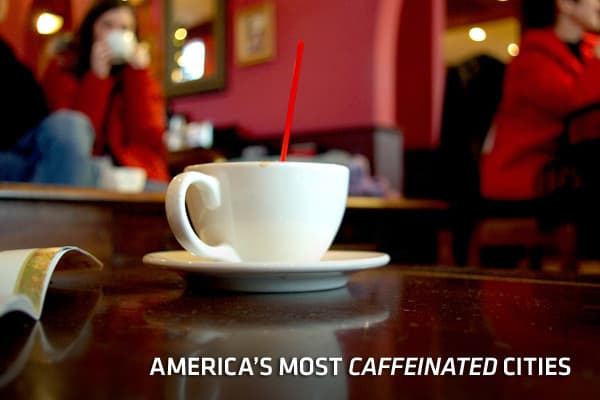 The United States is just twelfth worldwide when it comes to caffeine consumption. At an average of 3 kilograms (106 ounces) of coffee per person per year, Americans are well behind world leader Norway at 10.7 kilograms, or nearly three gallons, per person. Still, Americans consider themselves to be a pretty caffeinated culture. Certainly the growth of coffee shops around the country are a testament to how much we love our caffeine. Here, we take a look at some of the top buzz hubs as reported b