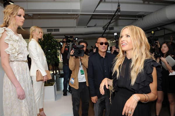 Designer Rachel Zoe mingles with the crowd at the Rachel Zoe spring 2012 presentation during Mercedes-Benz Fashion Week on Sept. 12, 2011, in New York City