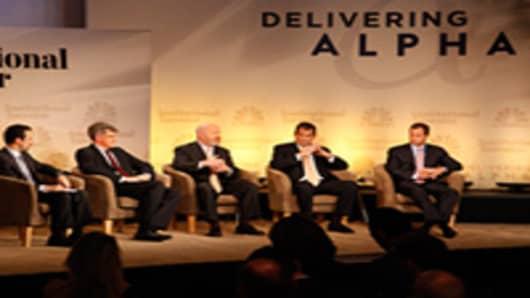 """Delivering Fees"" panel at the Delivering Alpha conference."