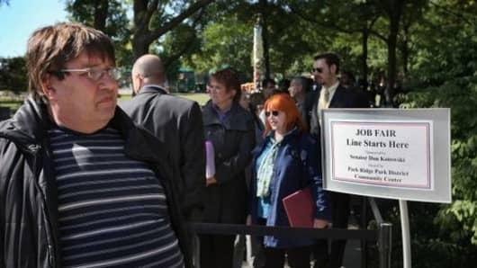 Job Seekers Attend Illinois Job Fair