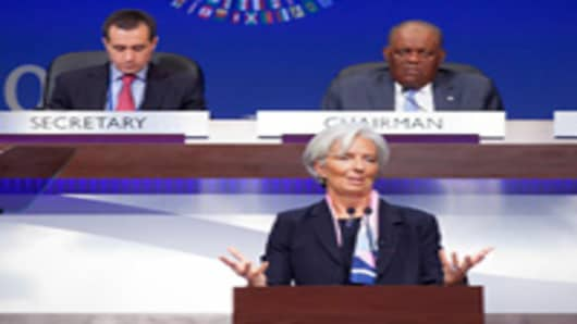 nternational Monetary Fund's Managing Director Christine Lagarde speaks at the Annual Meetings