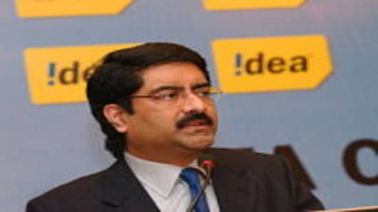 Kumar Mangalam Birla, Chairman of Aditya Birla Group, which owns and operates companies in cement, infrastructure, textiles and mobile telecommunication in India.