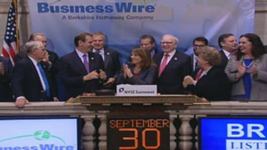 Warren Buffett at the NYSE Opening Bell, September 30, 2011
