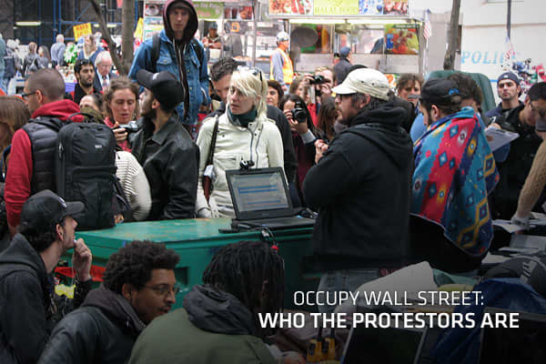 "Protestors of the 'Occupy Wall Street' movement have occupied Zuccotti Park in lower Manhattan for several weeks now, but who exactly these people are what they are protesting still remains somewhat of a mystery.The movements website, , states that ""Occupy Wall Street is a leaderless resistance movement with people of many colors, genders and political persuasions...The one thing we all have in common is that we are the that will no longer tolerate the greed and corruption of the 1 percent."" Alt"