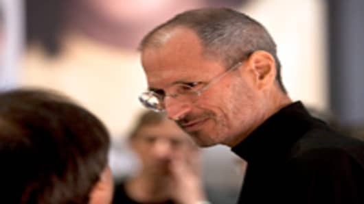 Steve Jobs attends the Apple Worldwide Developers Conference (WWDC) in San Francisco
