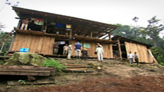 The coffee camp built by the Guzman family has no electricity or running water.