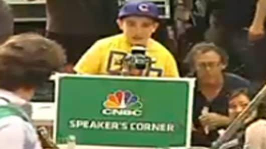 CNBC Speaker Corner at Wall Street Protest