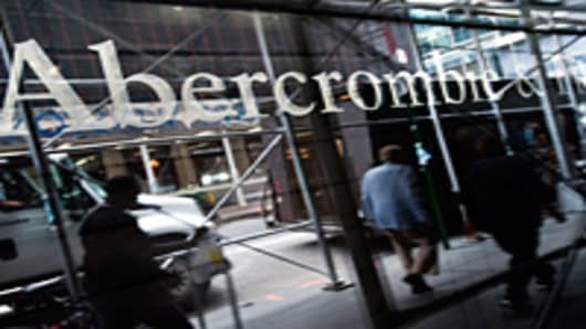 Abercrombie and Fitch sign