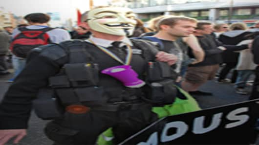 Occupy protester in London
