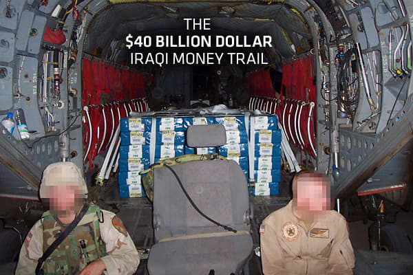 It has been called the largest airborne transfer of currency in the history of the world. But finding out what happened to all the money involved has become one of the biggest financial mysteries of all time. Beginning in the very earliest days of the war in Iraq, the New York Federal Reserve shipped billions of dollars in physical cash to Baghdad to pay for the reopening of the government and restoration of basic services. By one account, the New York Fed shipped about $40 billion in cash betwe