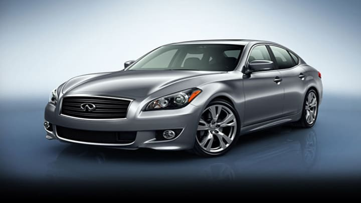"""Manufacturer's Suggested Retail Price: $53,700The Infiniti M is currently available in three different models, the M37, the M56 and the M35h Hybrid. The hybrid version of this midsize luxury sedan has a powertrain that combines an electric motor and a gas-fueled 3.5 liter V6, which together add up to 360 horsepower. Not bad for .The hybrid compares well with its counterparts. """"In testing, we found it matches the M56's incredible acceleration abilities, while besting the M37's combined fuel econo"""