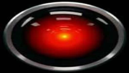 "The ""eye"" of computer HAL 9000 in the 1968 film"