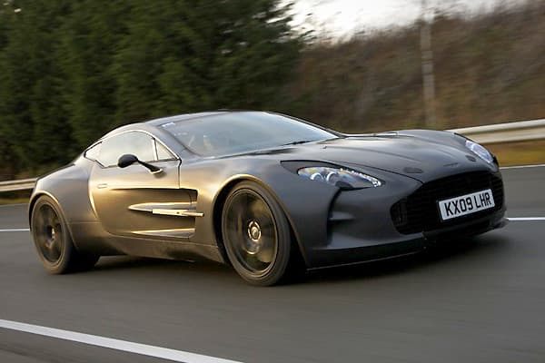 Price: $1.87 millionTop Speed: 220.007 mph0-to-60: around 3.5 secondsNumber Produced: 77Oh, oh — seventy seven. That's the number of cars produced for the hand-built limited edition One-77. It's the fastest street-legal Aston Martin of all time, topping out at 220.007 miles per hour. The One-77 vanquished the former champion Vanquish, which could only reach a pitiful 200 mph.