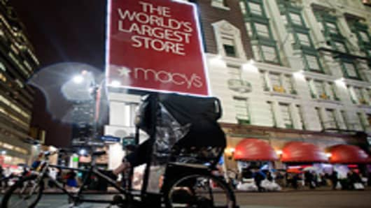 The Macy's Inc. store, right, in New York City.