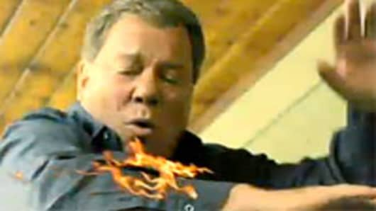 William Shatner's fried turkey fire