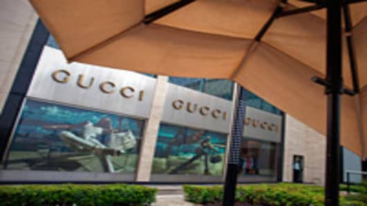 A Gucci Group NV store at the DLF Emporio luxury shopping center in New Delhi, India.