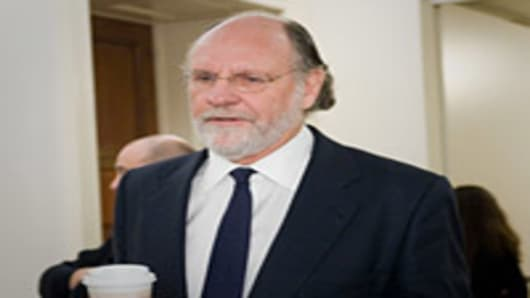 Jon S. Corzine, former chairman and chief executive officer of MF Global Holdings Ltd., arrives to testify at a House Agriculture Committee hearing.