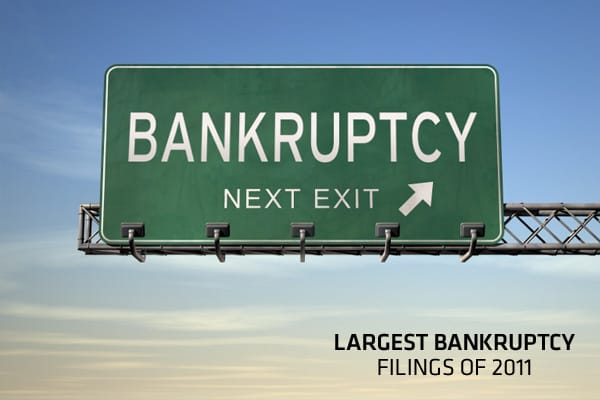 The last four months of the year have seen a big jump in U.S. companies declaring bankruptcy.  In fact, four of the 10 largest bankruptcies of 2011, which span across industries including aviation, telecommunications, energy, and banking, were declared just last month.According to ratings agencies Moody's and Standard & Poor's, the rising trend of corporate defaults is expected to continue into 2012, given global growth uncertainties, the debt crisis in Europe, and tightening funding conditions.