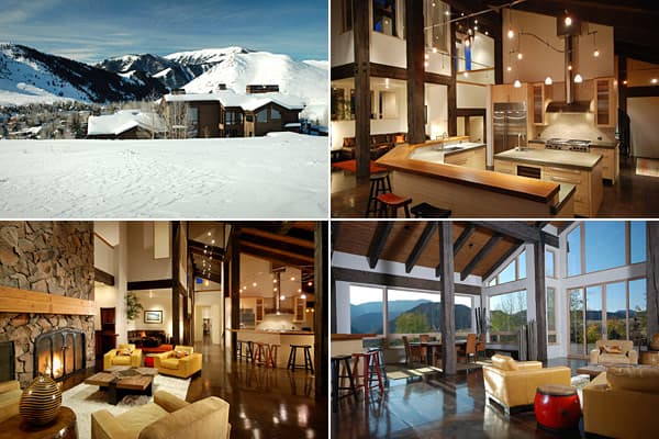 Price: $4.9 millionBedrooms: 6Bathrooms: 7Square Footage: 7,102Ski-in/ski-out single family homes are not available in Sun Valley, but Brooke Shields' former home is, and it's none too shabby. Set on 2.4 beautifully landscaped acres, this year-round property features panoramic views of rugged mountains, appearing as snow-capped peaks in summer and all-white in winter.The house is partially constructed from reclaimed beams. It has two master suites, elevator and four stone fireplaces, one of whic