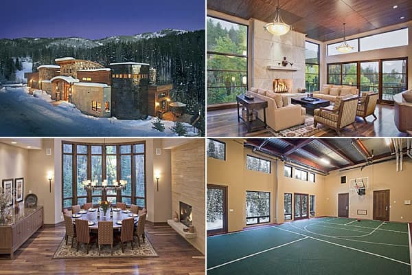 "Price: $7.995 millionBedrooms: 7Bathrooms: 7 full 1 halfSquare Footage: 10,037This property is situated in a prime spot: Occupants can ski out the door onto the Right-O-Way ski run and the Thunderhead high-speed chair lift. The mansion has two master suites with Infinity tubs and fireplaces. The rooftop has two warm outdoor options -- a hot tub and an elegant fireplace.The TopTenRealEstateDeals site describes the many indoor gaming options: ""The basketball gym can be converted into a tennis or r"