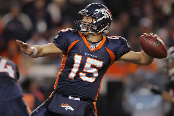 The former Florida quarterback emerged as a starter later in the season and developed a cult following for his untraditional style that led to victories. Tebow has fizzled into the playoffs, but the fact that there is so much buzz (both love and hate) around him got him to the number 2 spot. In the beginning of the season, Tebow was completely outside the top 10.