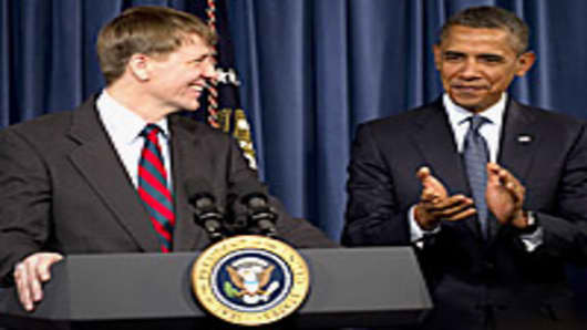 President Obama and Richard Cordray