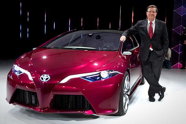 "A major reveal for Toyota this year was the NS4 plug-in hybrid concept, which ""signifies Toyota's vision for future mobility with a focus on connectivity and a human interface,"" separate from the company's already popular Prius line.Toyota foresees vehicles becoming a ""communication hub"" where connected consumers increasingly look to integrate their devices. The carmaker has formed alliances with tech companies such as Microsoft and Intel to advance the hub concept.The concept also includes Huma"