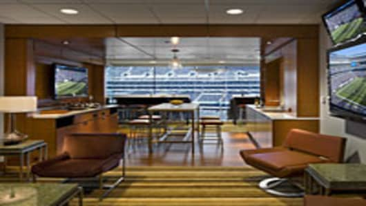 Met Life Stadium luxury box.
