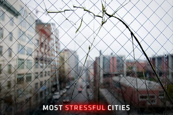 With common factors such as traffic, crowds, noise, grime, and crime, cities are generally not perceived as oases of calm.But what makes one city more stressful to live in than the next? In order to gauge the stress of residents in American cities, data cruncher Sperling's Best Places considered the 50 largest metropolitan areas (which includes suburbs). The team considered the following factors: divorce rate, commute times, unemployment, violent crime, property crime, suicides, alcohol consumpt