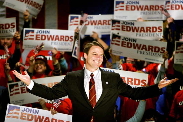 Former North Carolina Sen. John Edwards sought the Democratic presidential nominations in 2004 and in 2008. The closest he came was in 2004, when he became the running mate for Sen. John Kerry.Their ticket was defeated by then-incumbent President George W. Bush and Vice President Dick Cheney, but Edwards returned to the campaign trail four years later, albeit unsuccessfully. He currently has an estimated net worth of $45 million, much of which comes from  and from awards he won for clients in pe