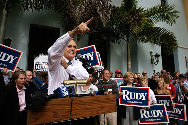 Rudy Giuliani was mayor of New York from January 1993 to December 2001. His leadership during the aftermath of the 9/11 attacks made him an internationally renowned figure of heroic proportions.He was knighted by Queen Elizabeth II of England, and after campaigning hard to get President George W. Bush re-elected in 2004, he ran for the 2008 Republican nomination for the presidency. That didn't go too well for him, and he withdrew from the race to support the eventual nominee, Sen. John McCain.Gi