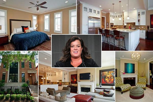 """Location: ChicagoPrice: Nearly $2.5 millionBedrooms: 5Bathrooms: 5-plus Square Footage: 6,000When Rosie O' Donnell was preparing to host her new show on Oprah Winfrey's OWN network last fall, the longtime New Yorker moved to Oprah's windy city. """"The Rosie Show"""" has gone over better than """"Rosie Live,"""" so she may be staying put in this Lakeview home, which she  from an executive at the OWN network. The """"Riding the Bus With My Sister"""" star's new digs came fully furnished and includes a ho"""