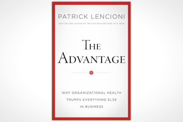 "By: Patrick LencioniPages: 256Publisher: Jossey-BassPublication Date: March 2012Price: $27.95What is it that truly separates a good company from a great one? Strategy? Leadership? Employees? Innovation?In ""The Advantage"" best-selling author and management consultant Patrick Lencioni says the seminal difference between successful companies and all the rest comes down to the health of the organization. In other words, how ""healthy"" are they?Lencioni has a huge fan base thanks to his many best-sell"