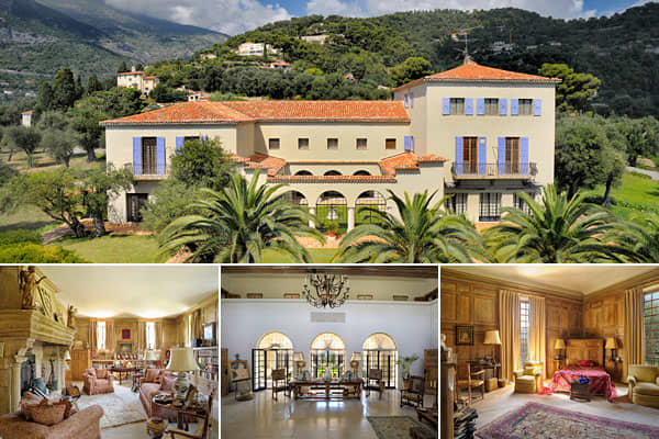 Location: Cap Martin, FrancePrice: $50,732,000Bedrooms: 7Bathrooms: N/ASquare Footage: 10,000+How about the home of the woman whose name graces Chanel No. 5 and who invented the little black dress? Anyone familiar with the story of the couture icon Coco Chanel knows about her home in the South of France, Villa La Pausa. (In fact, La Pausa has its own Chanel fragrance named for it.) Coco Chanel supervised the building of this property, which overlooks the Mediterranean. Her hand can be seen in th