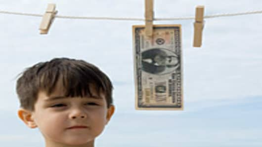Child with money