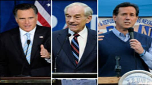 Mitt Romney | Ron Paul | Rick Santorum