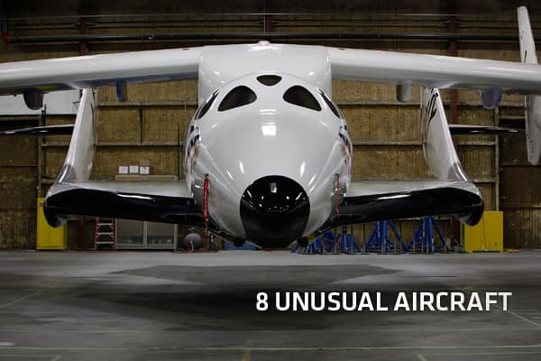 When you think of aircraft, you usually imagine passenger planes, private jets or military aircraft. But what about planes that aren't designed to only carry passengers? Planes that are created for specific functions like saving lives, construction, espionage, as well as those that will transform the way we travel in the future.We've put together a list of eight innovative aircraft — from old models to state-of-the-art. Each of them was specifically designed to perform a function or solve a prob